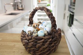 Egg Basket illusion cake