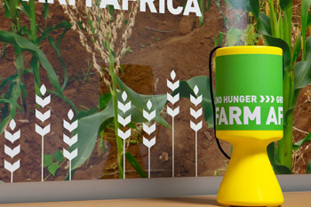 Farm Africa charity collection pot