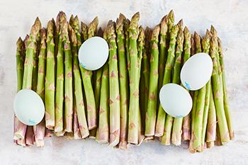 British asparagus and eggs
